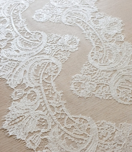 Ivory chantilly cotton lace trimming