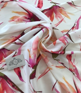 Multicolored 100% silk fabric