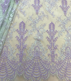 Multicolored lace fabric