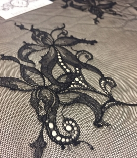 Black lace fabric by the yard