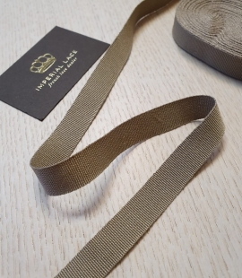 Khaki green grosgrain viscose ribbon