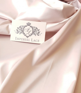 Powder pink satin fabric