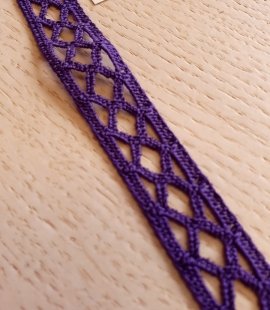 Dark lilac guipure lace trimming