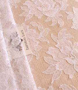 Off white French Chantilly lace fabric
