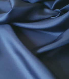 Dark blue silk lining fabric