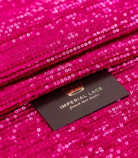 Pink sequin pleated fabric