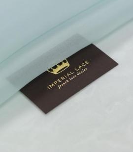 Aqua clear blue silk organza fabric