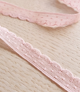 Baby pink chantilly lace trimming