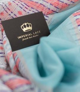 Colorful line pattern silk chiffon fabric