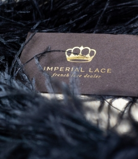 Black natural ostrich feather