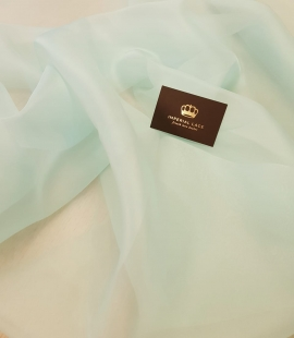 Mint green silk organza for embroidery