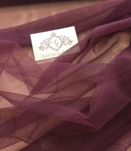 Dark lilac tulle fabric