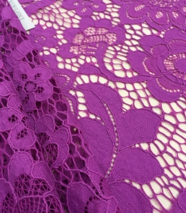 Purple lace fabric