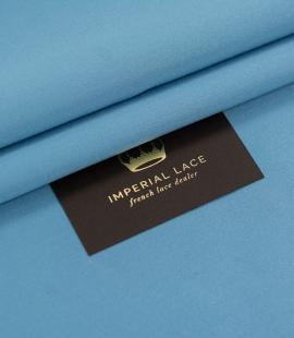 Blue color silk duchess fabric