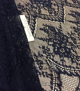 Navy blue lace fabric