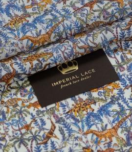 Multicolor nature pattern light cotton fabric