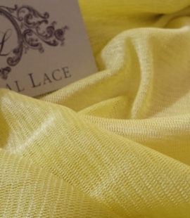 Yellow silk tulle fabric