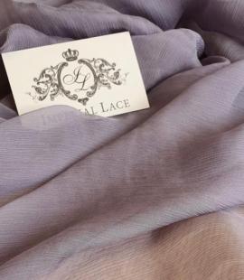 Lilac grey silk chiffon fabric
