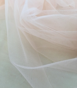 Orange tulle fabric