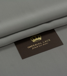 Dark gray silk crepe fabric