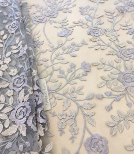Multicolored 3D lace fabric