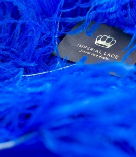 Royal blue natural ostrich feather