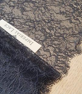 Dark grey lace trimming