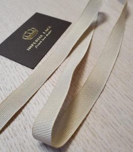 Beige grosgrain viscose ribbon