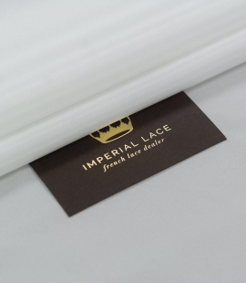 Off white viscose with elastane lining fabric
