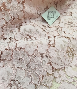 Light Pink Lace Fabric