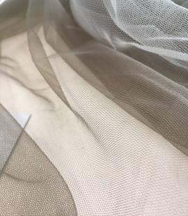 Khaki tulle fabric