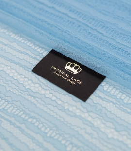Light blue abstract lines chantilly lace fabric