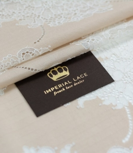 Beige base fabric wit...