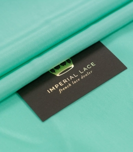 Mint green silk linin...
