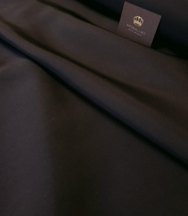Black thick silk crepe fabric