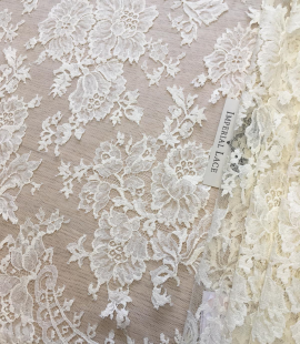 Ivory lace fabric