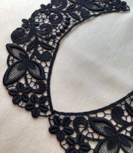 Black collar lace