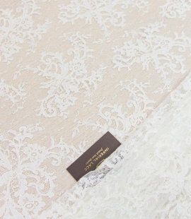 Ivory floral pattern ...