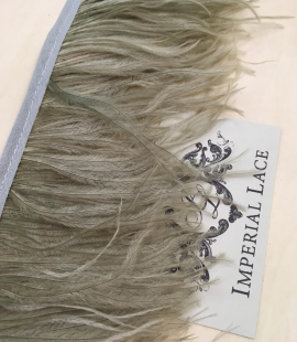 Khaki green ostrich feathers