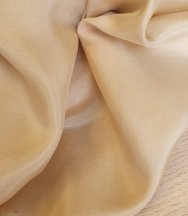 Beige silk lining fabric