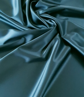 Sea blue polyester with elastane satin fabric