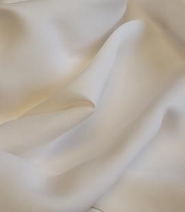 Offwhite 100% silk cady fabric