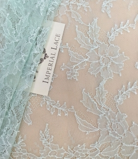 Mint blue lace trim