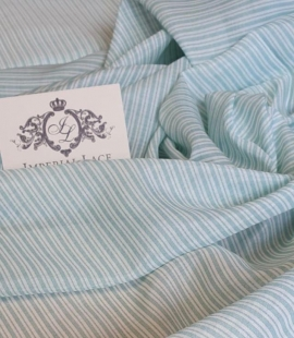 Blue stripes with white viscose fabric