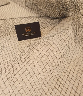Black 100% polyester hat net tulle fabric