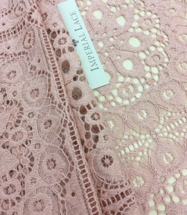 Old rose lace fabric, French Lace