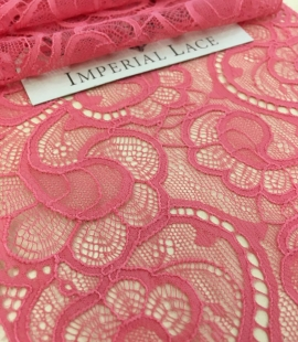 Raspberry Pink lace trim