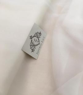 Ivory silk chiffon fabric