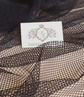 Black net tulle fabric