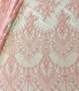 Raspberry pink lace fabric